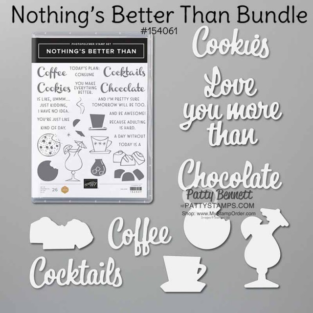Nothing's Better Than Cocktails!! Stampin' UP! stamp set and dies #154061 www.PattyStamps.com
