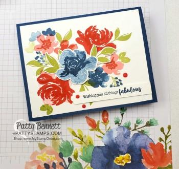 Floral Grid Paper Card Inspiration
