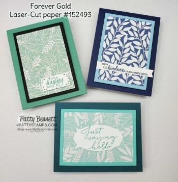 Forever Gold Laser-Cut Cards