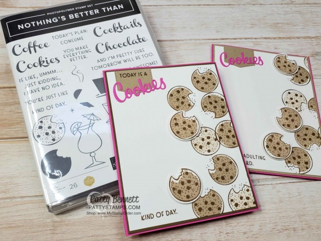 Nothing's Better than Chocolate Chip Cookies handmade card idea featuring Stampin' UP! bundle #154061. shop Stampin UP online www.PattyStamps.com