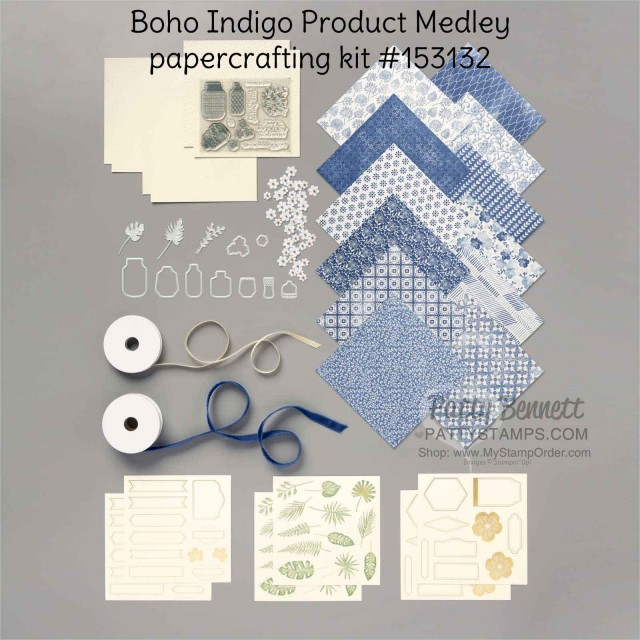 Boho Indigo Product Medley from Stampin Up, full of amazing card making and papercrafting supplies! #153132 www.PattyStamps.com